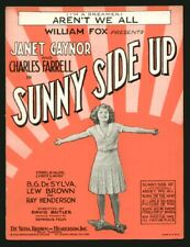 Sunny Side Up 1929 Aren't We All JANET GAYNOR Movie Vintage Sheet Music Q05