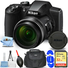 Nikon COOLPIX B600 Digital Camera (Black) 26528 - Essential 32GB Bundle