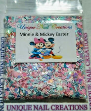 Limited Eddition Glitter Mix~*MINNIE & MICKEY EASTER* Comes W Alloy~ Nail Art
