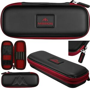 Mission Freedom Slim Darts Case - Red. Holds Fully Assembled Darts.