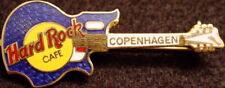 Hard Rock Cafe COPENHAGEN 1995 Blue National Glenwood GUITAR PIN