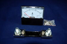 1pc Dc 0 30a Analog Ammeter Panel Amp Current Meter 6070mm With Shunt