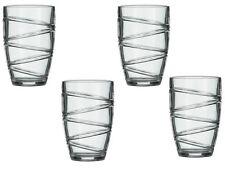 Grand deluxe forte plastique acrylique Culbuteur verres set de 4 Swirl Jus Vin