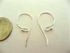 3 Pair Bali Sterling 1 Dot French Hook Style Earwires 24mm