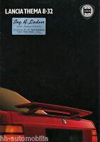 Prospekt Lancia Thema 8.32 1987 brochure Auto PKWs Broschüre Autoprospekt