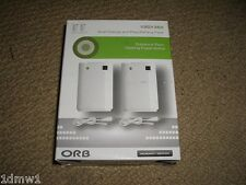 MICROSOFT XBOX 360 DUAL CHARGE PLAY BATTERY PACK NEW 2 x USB Charger & Batteries