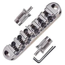 1 Satz Locking Roller Bridge Sattel für LP E-gitarre Ersatz Silber