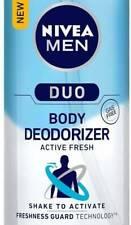Nivea Men Duo Active Fresh Body Deodorizer 100ML Deodorant Spray  For Men Au