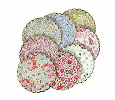Meri Meri 8 Liberty Paper Plates Small Floral Flowers Party Supplies Tea Garden