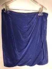 NWT $295 Josie Natori Tavalu Draped Silk Skirt Periwinkle Blue Womens Size 12