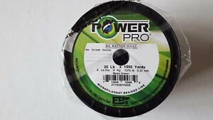 Power Pro Braided Spectra Line 15 lb. x 1500 yd. Moss Green, new line, new label
