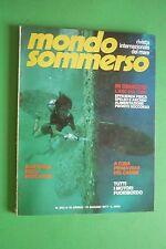 Magazine MONDO SOMMERSO N.202 1977 + SUPPLEMENTO Rivista internazionale del mare
