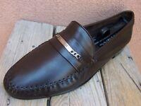 BALLY Mens Dress Shoes Soft Dark Walnut Brown Leather Slip On Loafer Size 11.5M