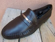 9f872842167 BALLY Mens Dress Shoes Soft Dark Walnut Brown Leather Slip On Loafer Size  11.5M