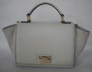 Kate Spade Grey Shoulder Handbag Bag Purse Medium Size Pre-ownedin Good Cndtn
