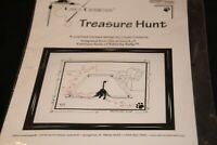 Treasure Hunt yarn black cat by Kelly Calico Crossroads counted cross stitch kit