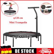Jumping Fitness 200kg Trampolin mit Griff Mini Sport Trampoli Gummiseil Leise DE