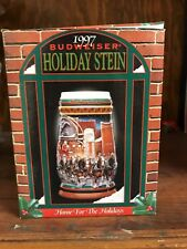 1997 Budweiser Holiday Stein in Box with Certificate of Authenticity