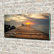 Acrylglas-Bild Wandbilder Druck 140x70 Deko Landschaften Hölzerner Pier