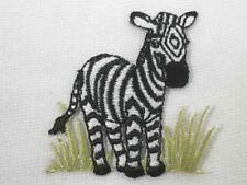 Zebra in Grass Child Iron On Embroidered Applique