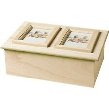 Plaid:Craft Wood Memory Box Double Picture Frame - 132735
