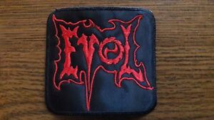 EVOL,SEW ON RED EMBROIDERED PATCH