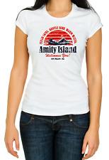 Amity Island White Women's 3/4 Short Sleeve T-Shirt K503