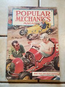 Popular Mechanics Magazine June 1950 Back Issue-3/4 Midget Racing Cover