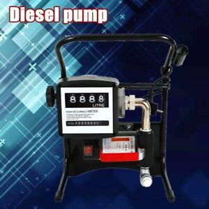 Fuel Transfer Pump 375 watt Diesel Gas Gasoline Kerosene w/ Manual Nozzle Kit