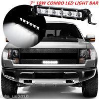 "7"" 18W COMBO LED LIGHT BAR OFFROAD DRIVING LAMP SUV ATV CAR 4WD OFFROAD CREE NEW"