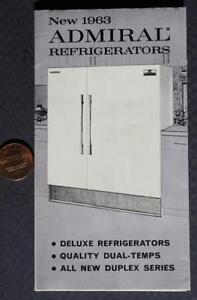 1963 Admiral Kitchen Refrigerators-Appliances illustrated brochure-VINTAGE COOL*