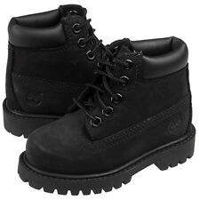 Timberland 6-Inch Baby Toddler Boys Girls Black Leather Little Kids Boots 12807