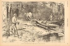 Portage, Canoeing In The North Woods - A Carry. by W.A. Rogers, 1888 Art Print