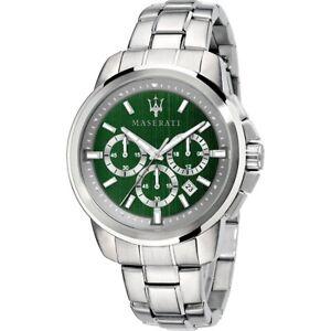 Maserati Men's Watch Steel Bracelet Chronograph Green Dial R8873621017