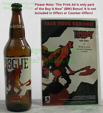 Hellboy Right Hand Of Doom Red Ale Empty Rogue Beer Bottle w/ Cap & a BIN BONUS!