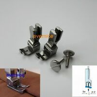 2 LEFT SIDE EDGE GUIDE COMPENSATING FOOT for SINGER BROTHER CONSEW JUKI