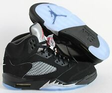 NIKE AIR JORDAN 5 RETRO OG BLACK-FIRE RED-METALLIC SILVER SZ 15 [845035-003]