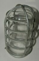 Vintage MINTY Crouse-Hinds Explosion Proof Glass Light Cover w/ Metal Cage Rare