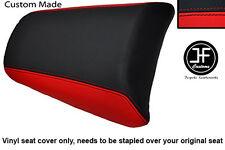 Personalizado de vinilo negro y rojo se adapta a Honda CBF 125 09-12 Trasero Pillion Cubierta de asiento solamente