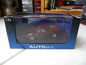Aston Martin DB7 Red Wine Red AUTOart 1/43 Miniature with Box