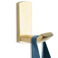 Gold Color Brass Single Robe Hook Bathroom Kitchen Wall Hanger Hooks