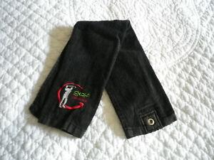 Serviette de golf GOLF PASSION noire