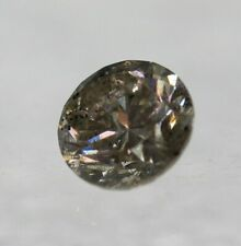Cert 0.47 Carat Light Brown SI2 Round Brilliant Natural Diamond 4.83mm EX #63