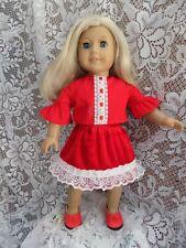 Hand made American girl doll skirt and top set