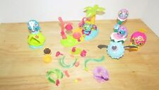 Zoobles Deluxe Hairdoobles Salon + extras lot set palm tree accessories hair