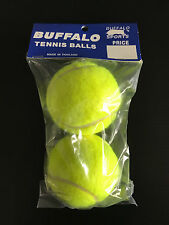 Brand New Buffalo Brand Pack of Two Standard Yellow Tennis Balls