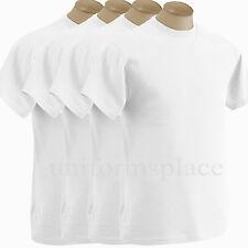 4 Mens T shirts Heavy Weight Basic Tee Crew Neck T shirts Plain White Tee 6XL