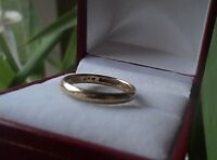 UNUSUAL 9ct Yellow Gold Wedding Band Ring h/m 1942 B'ham + Utility Mark - size J