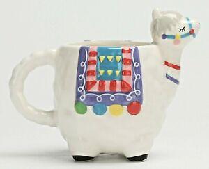 Llama Figural Coffee Mug Ceramic Hand Painted Hot Beverage Cup Animal Dinnerware