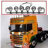 LESU 1:14 RC Car TAMIYA Scania R620 R470 Tractor Trucks LED Spotlight Toplight